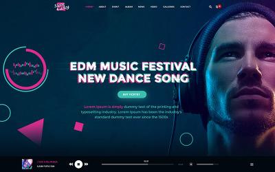 Стів Кейді - Шаблон PSD для сучасної та стильної музичної події