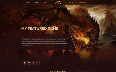 Gamepro - Фантастичний щоденник для ігорних сайтів PSD шаблон