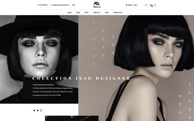 Irgalmasság - lenyűgöző divat e-kereskedelmi PSD sablon