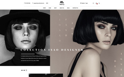 Mercy - Verbluffende mode eCommerce PSD-sjabloon
