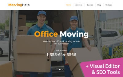 Moving Company Moto CMS 3 Template