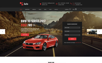 AUTO - Modern biluthyrningsservice PSD-mall