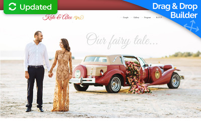 Düğün Planlayıcısı Açılış Sayfası Şablonu