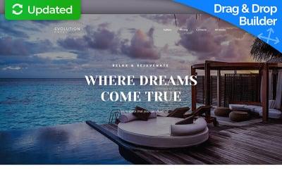 Evolution - Hotel MotoCMS 3 Landing Page Template