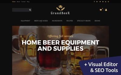 GrandBeer - Brewery MotoCMS Ecommerce Template