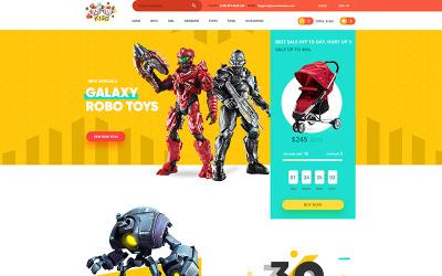 Gyerekek - szép design a baba divat és üzletek PSD sablonhoz