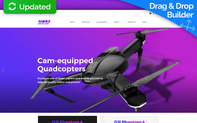 Moox - Drone Store MotoCMS Ecommerce Template