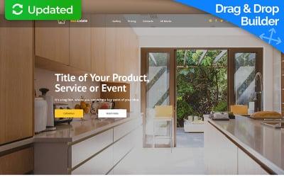RealEstate MotoCMS 3 Landing Page Template