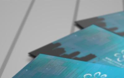 Творчі синій шаблон візитної картки PSD