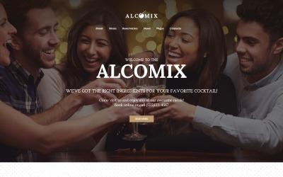 Cocktail Bar Moto CMS HTML Template