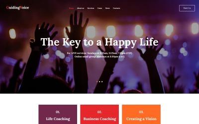 Głos przewodni - Szablon HTML Moto CMS Life Coach