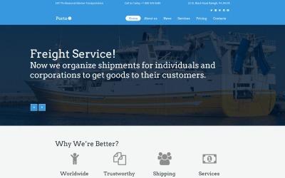 Porto - Seafaring, Transportation & Logistics Moto CMS HTML Template
