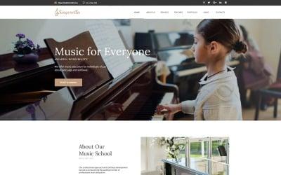 Singerella - Music School Moto CMS HTML Template