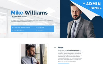 Bank Responsive Landing Page Template