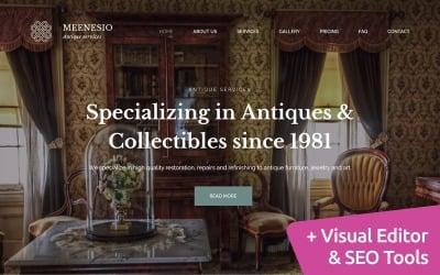 Meenesio - Antique Restoration Premium Moto CMS 3 Template