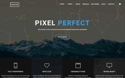 Kanter - Creative Responsive Minimalistic HTML Website Template