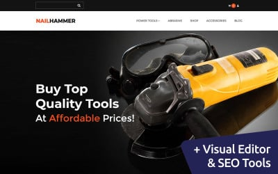 Nail Hammer - Equipment Market MotoCMS Ecommerce Template