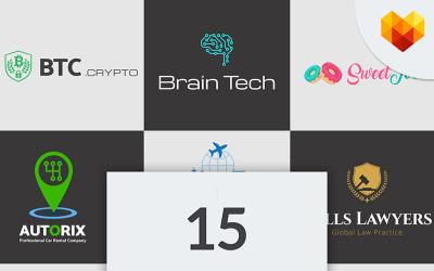 Paquete de 15 diseños de logotipos de empresas de nicho