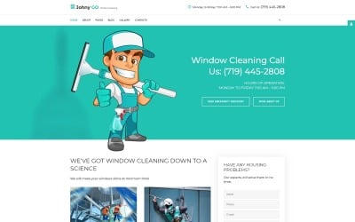 Pure Glass - Window Cleaning Services Joomla Template
