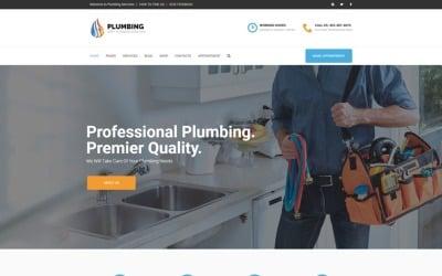Сантехника - тема WordPress для агентства по техническому обслуживанию дома