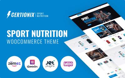 Certionix - Website-Vorlage für Sporternährung mit Woocommerce- und Elementor WooCommerce-Thema