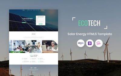 Ecotech - Solar Energy HTML5 Landing Page Template