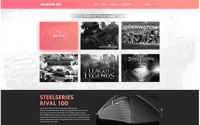 Gaming Inzet PSD-sjabloon