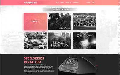 Gaming Bet PSD Template