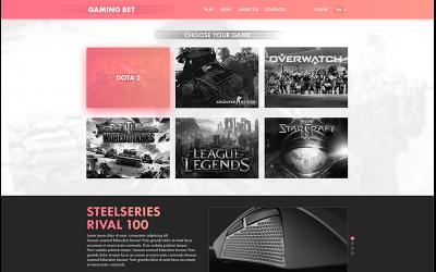Gaming Bet PSD Vorlage