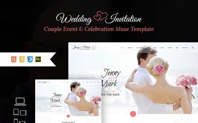 Invitation de mariage - Modèle de muse d'événement et de célébration de couple