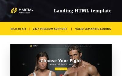 Martial Arts School Landing Page Template