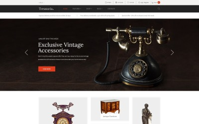 Treasuria - Tema WooCommerce antiguo y vintage