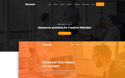 NURZZER - Plantilla PSD multipropósito, consultoría, finanzas, agencia comercial