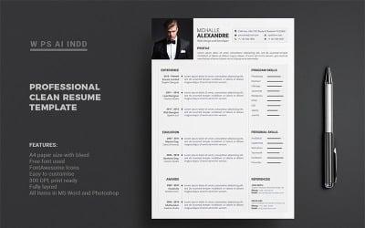 Resume - Mchalle Alexandr Resume Template