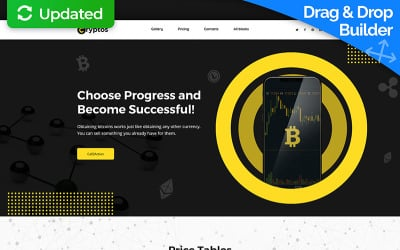 Cryptos - Bitcoin Cryptocurrency MotoCMS 3 Landing Page Template