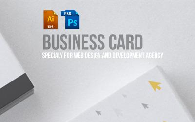 Diseño de tarjeta de visita para diseño web y plantilla PSD de desarrollador