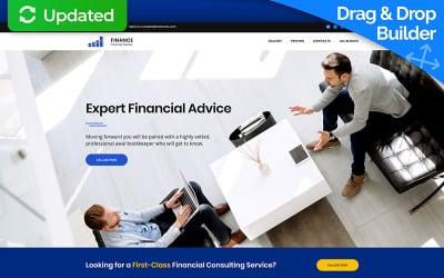 Financial Advisor MotoCMS 3 Landing Page Template