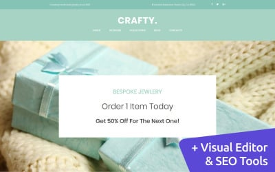 Handmade Jewelry Artist Moto CMS 3 Template