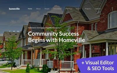 Homeville - Homeowners Association Premium Moto CMS 3 Template