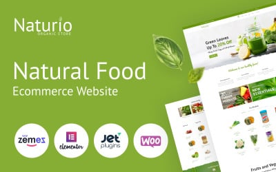 Naturio Food Store模板Elementor WooCommerce主题