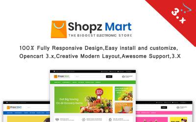 Shopz-Mart  3.x Responsive OpenCart Template
