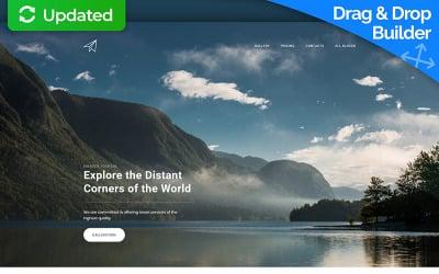 Skyline - Travel Agency MotoCMS 3 Landing Page Template