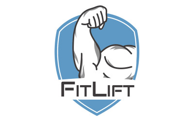 Gratis fitness- och sportlogotypmall