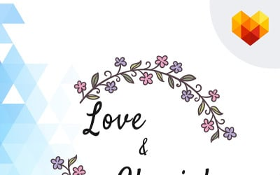 Love & Cherish Wedding Logo Template