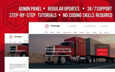 Transportation and Logistics Company Moto CMS 3 Template