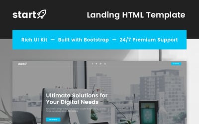 Start - Consulting Landing Page Template