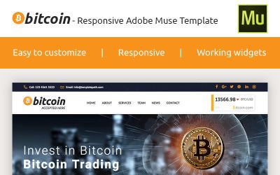 Bitcoin - Plantilla de Muse Premium Crypto Adobe CC 2017
