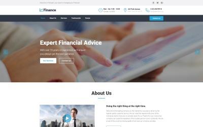 Finance - Financial Advisor HTML5 Landing Page Template