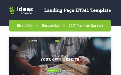 Ideas Studio - Design Studio HTML5 Landing Page Template