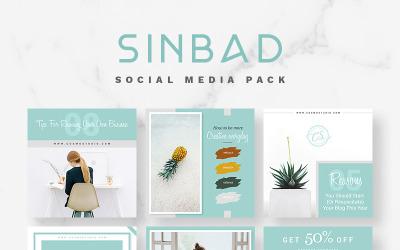 Modèle de médias sociaux SINBAD Pack